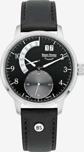 Bruno Söhnle Uhr 'Hamburg Ii 17-13205-761' in schwarz / silber / weiß, Produktansicht