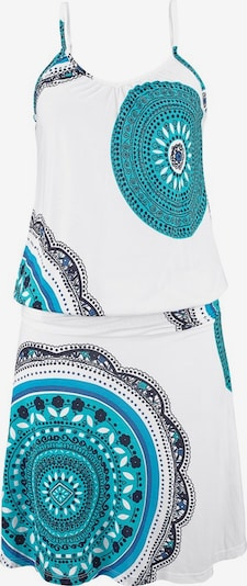 BEACH TIME Beach dress in turquoise / white, Item view