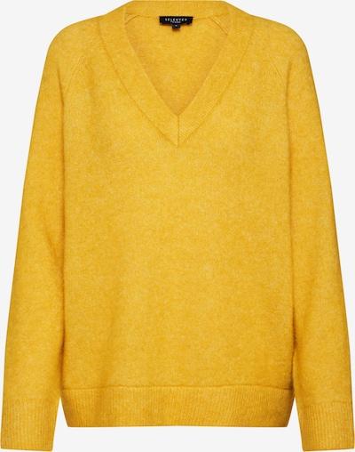 SELECTED FEMME Pullover 'SLFLANNA LS KNIT V-NECK' in gelb, Produktansicht