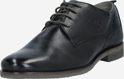 Pantofi cu șireturi bugatti pe negru, Vizualizare produs