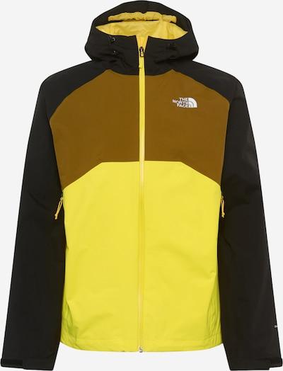 THE NORTH FACE Outdoorová bunda 'Stratos' - žlutá / olivová / černá, Produkt