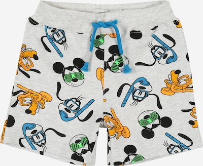 Pantaloni 'Mickey Magnar' NAME IT pe albastru / gri amestecat / negru: Privire frontală