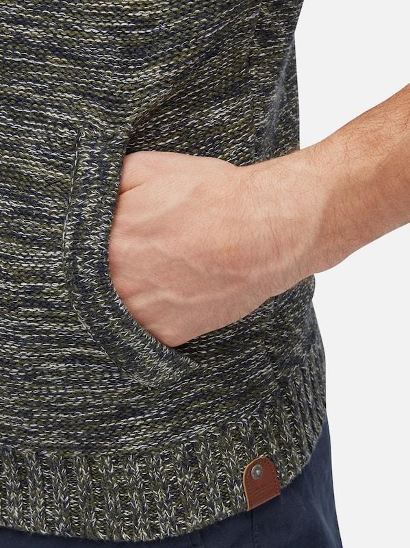 TOM TAILOR knit Strickjacke in Melange-Optik