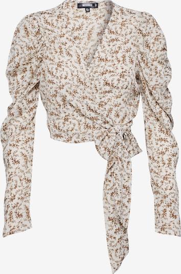 Missguided Bluse in hellbraun / weiß, Produktansicht