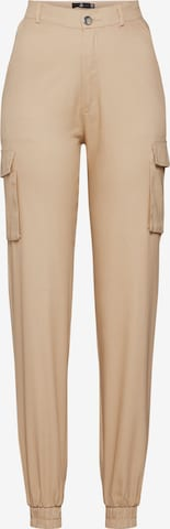 ruda Missguided Laisvo stiliaus kelnės 'PLAIN CARGO TROUSER'