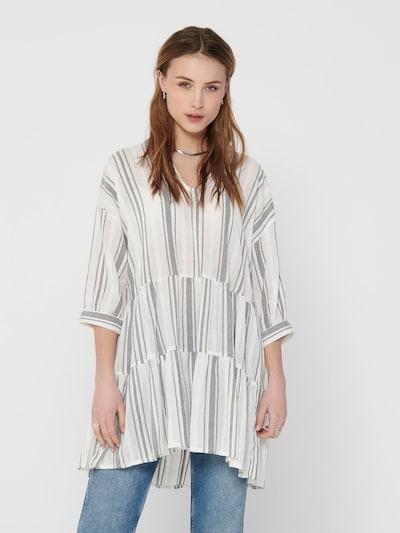 ONLY Gestreiftes Kleid in grau / weiß, Modelansicht