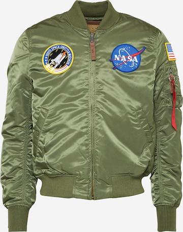 ALPHA INDUSTRIES Kevad-sügisjope 'MA-1 VF NASA', värv roheline