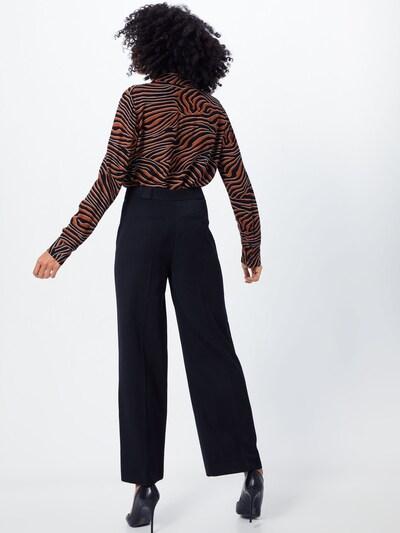 Kelnės su kantu 'Grace' iš NORR , spalva - juoda: Vaizdas iš galinės pusės