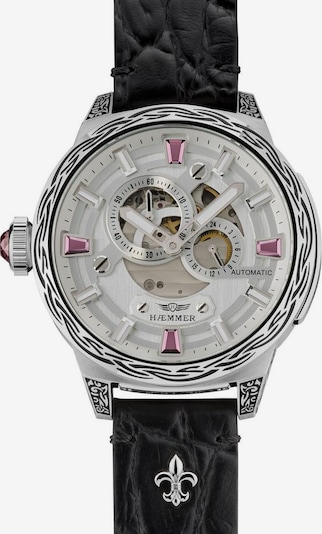 HAEMMER Uhr 'PINK PASSION, RD-200' in pink / schwarz / silber / weiß, Produktansicht