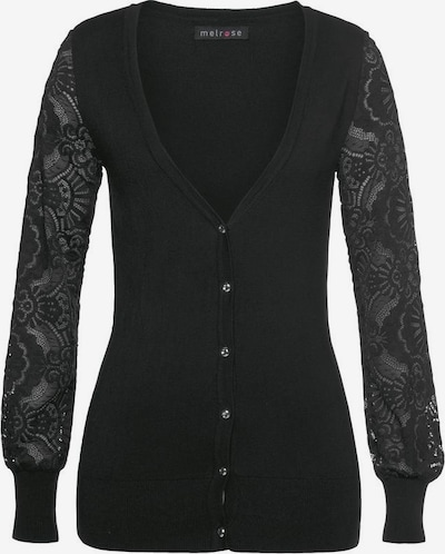 MELROSE Melrose Strickjacke in schwarz, Produktansicht