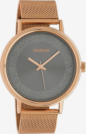 OOZOO Analoguhr in rosegold / graumeliert, Produktansicht