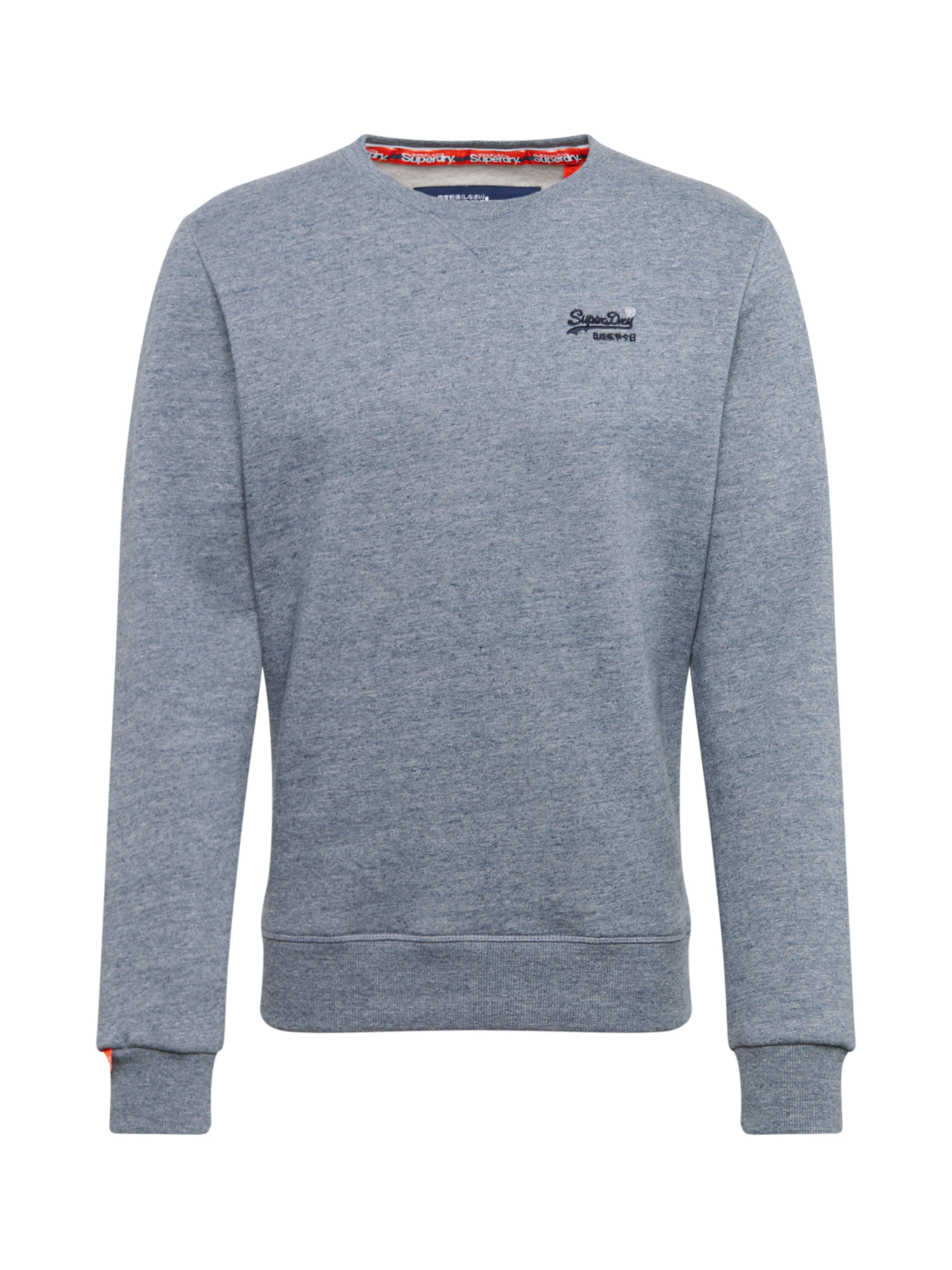 En Sweat Bleu Clair shirt Superdry 'orange' lKu1TFJ3c5