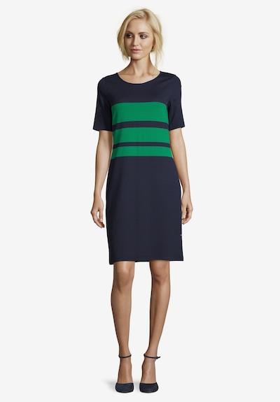 Vera Mont Sommerkleid gerader Schnitt in dunkelblau / grasgrün, Modelansicht