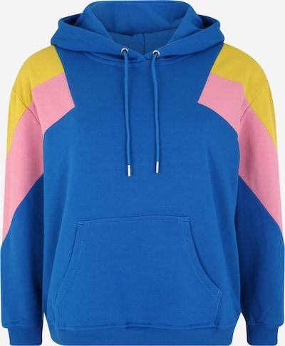 Urban Classics Curvy Hoodie in blau / gelb / rosa, Produktansicht