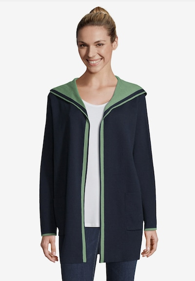 Betty & Co Cardigan in navy / mint: Frontalansicht