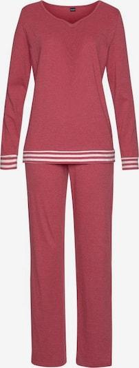 ARIZONA Pyjama in pastellrot / weiß, Produktansicht