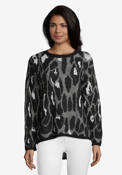 Betty Barclay Pullover in grau / schwarz / weiß, Modelansicht