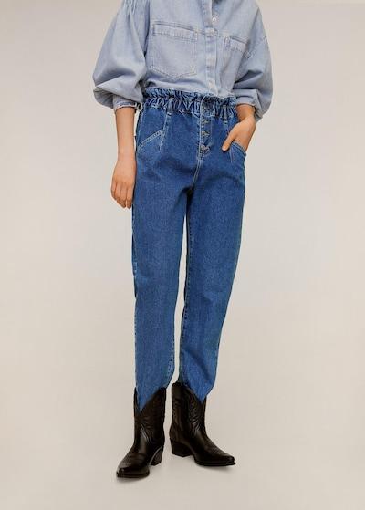 MANGO Jeans 'Paperbag' in kobaltblau, Modelansicht