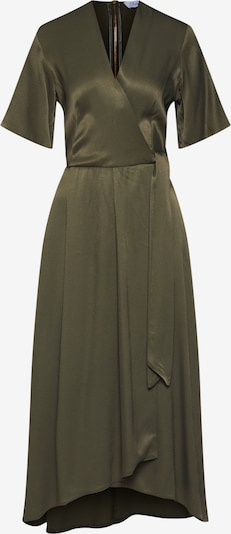 Closet London Kleid 'Closet Pleated Wrap Dress' in khaki: Frontalansicht