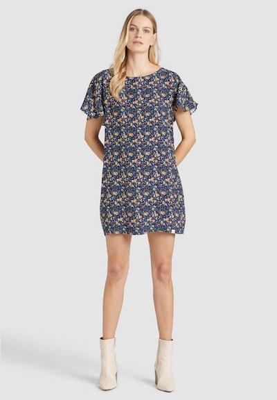 khujo Kleid ' TESSY ' in blau / gelb, Modelansicht