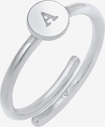 ELLI Ring Initial A in silber, Produktansicht