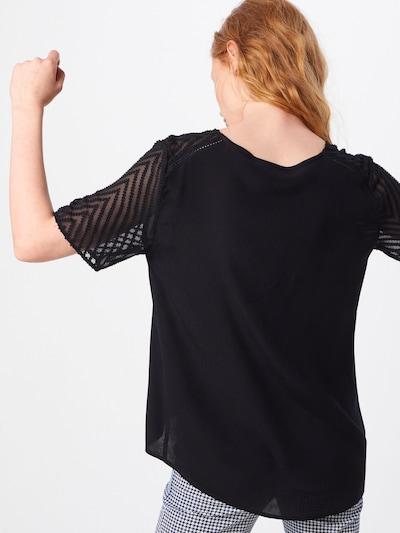 Tricou 'ZOE' OBJECT pe negru: Privire spate