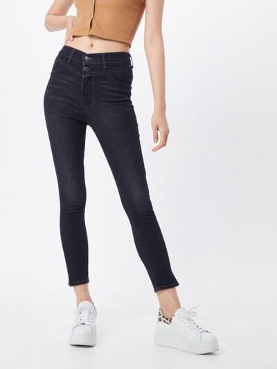 LEVI'S Jeans 'MILE HIGH ANKLE YOKE' in de kleur Zwart: Vooraanzicht