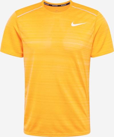 NIKE Tehnička sportska majica 'MILER' u narančasta / bijela, Pregled proizvoda