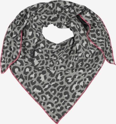 Zwillingsherz Tuch in grau / pink / weiß, Produktansicht