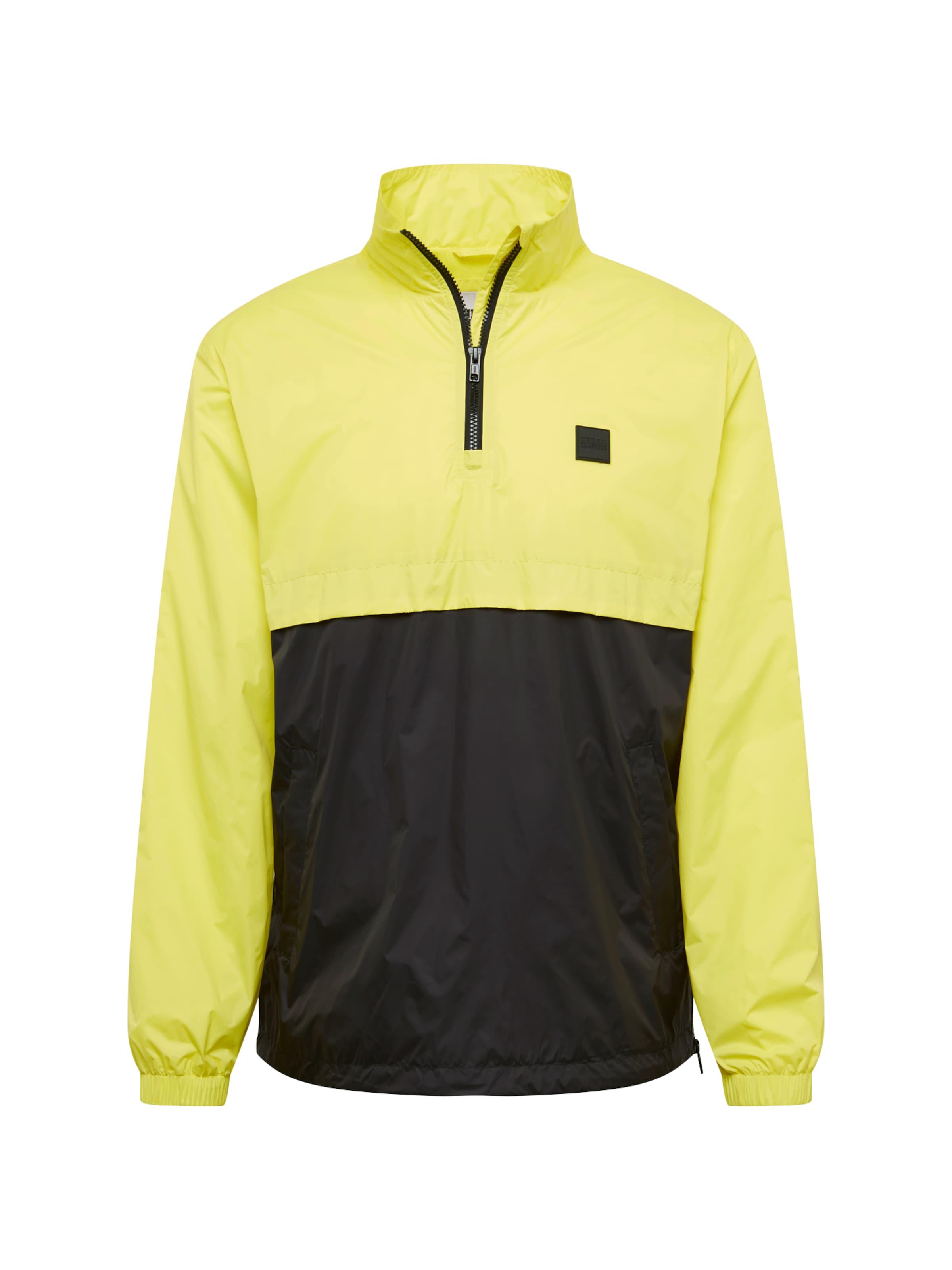 Urban Classics Jacke in gelb / schwarz Leicht gefüttert TB2748-01733-0051