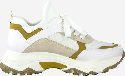 MARCO TOZZI Baskets basses en jaune foncé / greige / blanc: Vue de profil