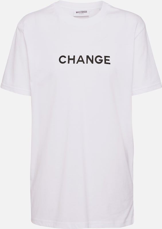 Worst Behavior Shirt 'Change' in de kleur Zwart / Wit, Productweergave