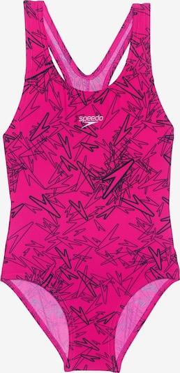 SPEEDO Kinder Badeanzug 'BOOM' in pink / schwarz, Produktansicht