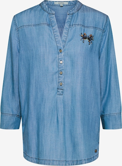 GARCIA Bluse in blue denim, Produktansicht