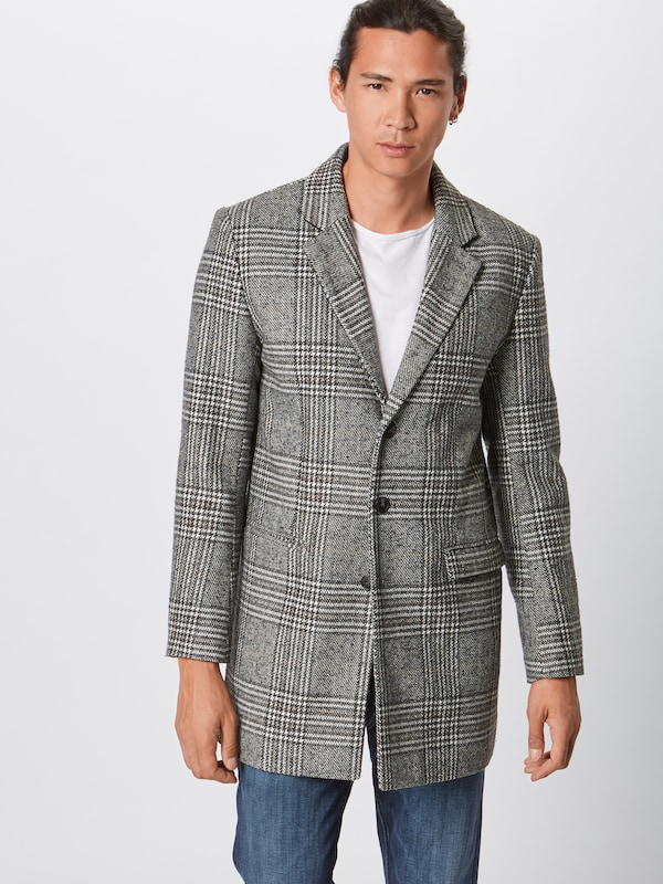 Lindbergh Mantel 'Checked coat' in grau, Modelansicht