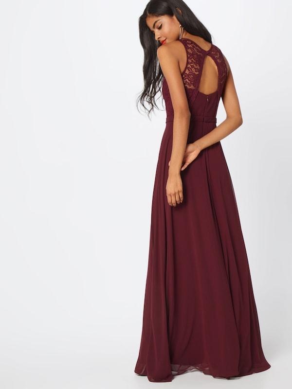 Robe Soirée Chiffon' 'long Night Bourgogne Dress Laceamp; En Star De Misuol UqzVGpLSM