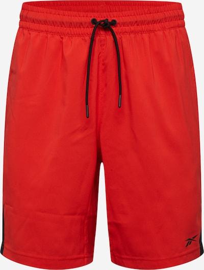 REEBOK Sportbroek in de kleur Rood / Zwart, Productweergave