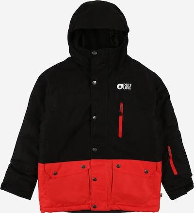 Picture Organic Clothing Sportska jakna 'MARCUS' u tamno crvena / crna, Pregled proizvoda