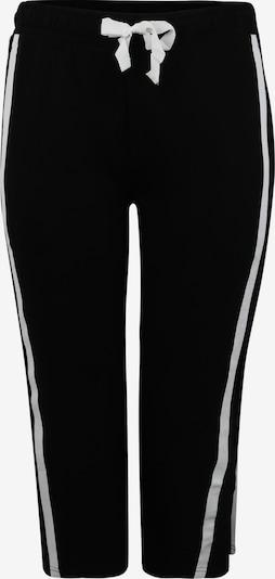 Urban Classics Curvy Broek in de kleur Zwart / Wit, Productweergave