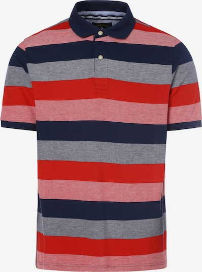 Andrew James Shirt in nachtblau / graumeliert / melone / hellrot, Produktansicht