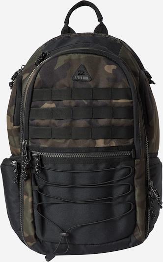BILLABONG Sportrucksack 'COMBAT' in braun / khaki / dunkellila / schwarz, Produktansicht