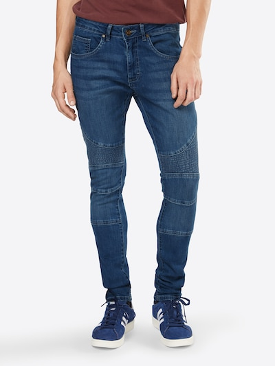 Urban Classics Jeans 'Slim Fit Biker' in Blue denim, View model