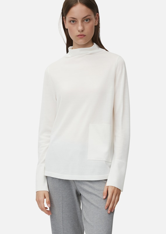 Marc O'Polo Pure Pullover in weiß: Frontalansicht
