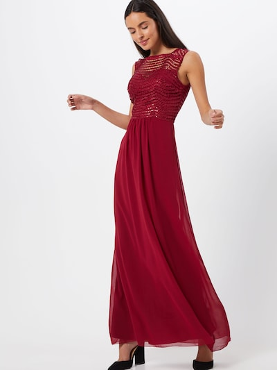 Lipsy Kleid 'WS BRDX SCLP SQN MXI' in burgunder, Modelansicht