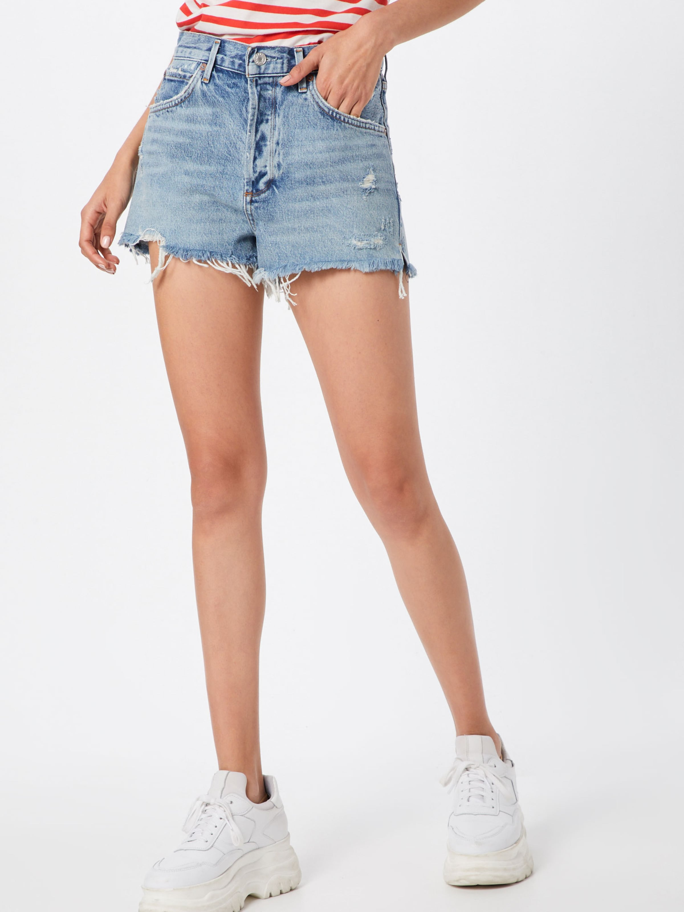 Blue Jeans In Agolde 'jaden' Denim bf76gy