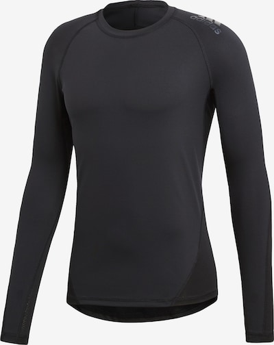 ADIDAS PERFORMANCE Shirt 'Alphaskin' in schwarz: Frontalansicht