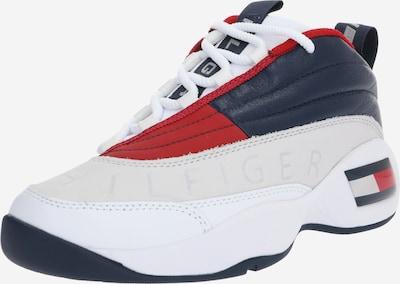 Sportbačiai be auliuko 'WMNS THE SKEW HERITAGE SNEAKER' iš Tommy Jeans , spalva - tamsiai mėlyna / raudona / balta, Prekių apžvalga