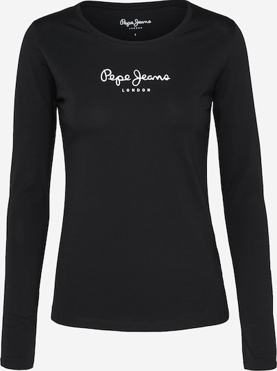 Pepe Jeans Tričko 'NEW VIRGINIA L/S' - černá / bílá, Produkt