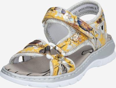 RIEKER Sandaal in de kleur Geel / Gemengde kleuren, Productweergave