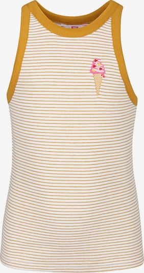 WE Fashion Top 'Dibi' in orange / weiß, Produktansicht